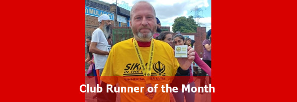Club Runner of the Month